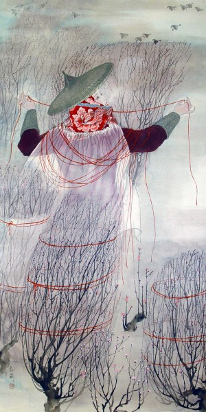 红绳束梅   Tying Plum Trees with Red String