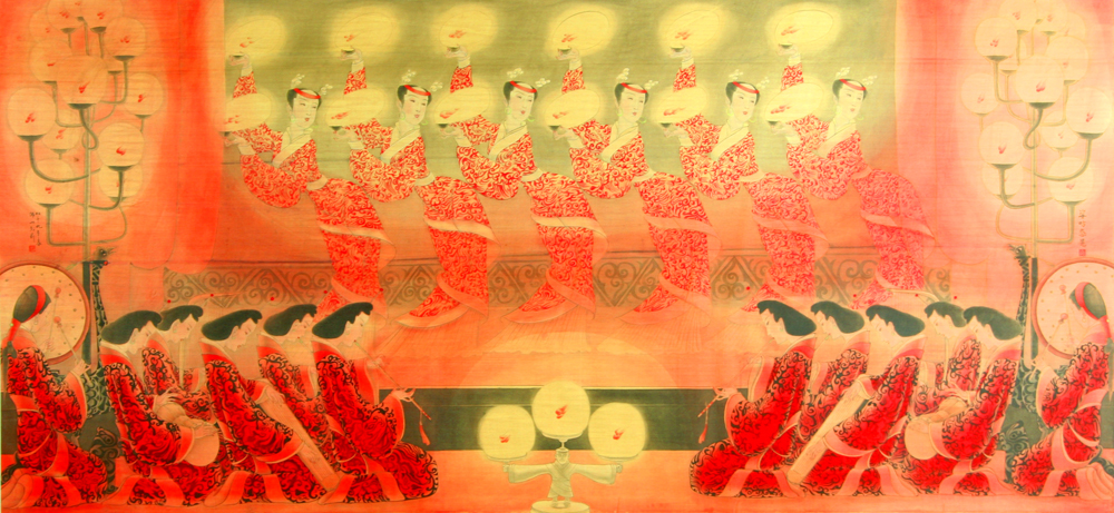 姿昉态晃(汉代)  The Swinging Court Dancing (Han Dynasty)